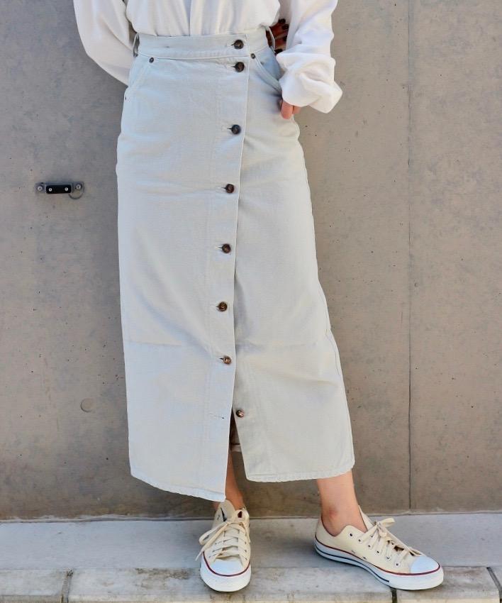 LEE button slit skirt