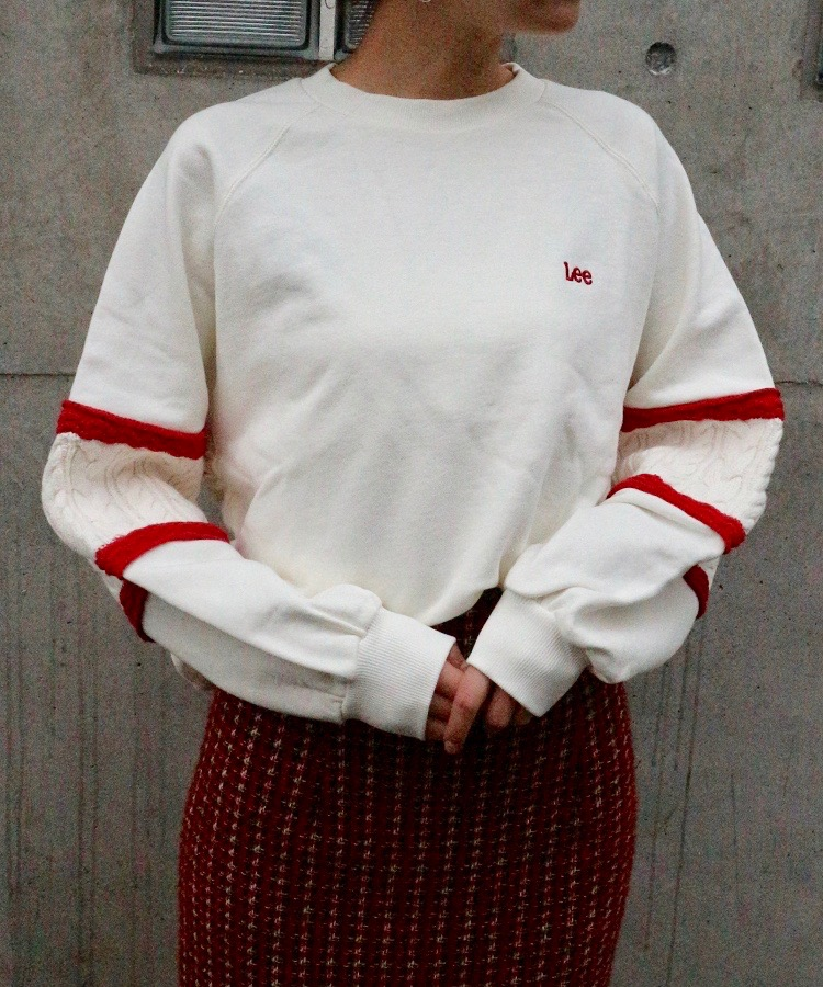 LEE knit panel sleeve sweat