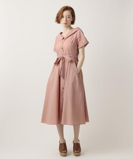 ストライプシャツドレス