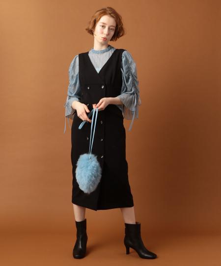 【ar 2019年10月号掲載】ダブルボタンジャンパースカート