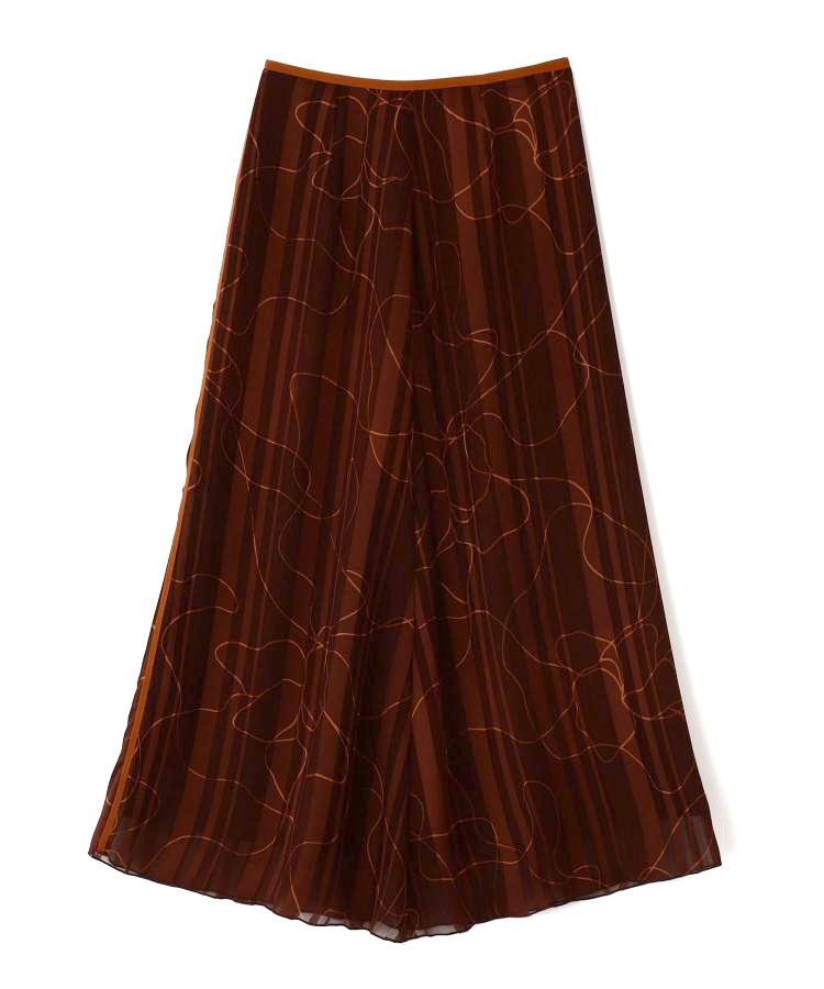 Stroke Print Skirt