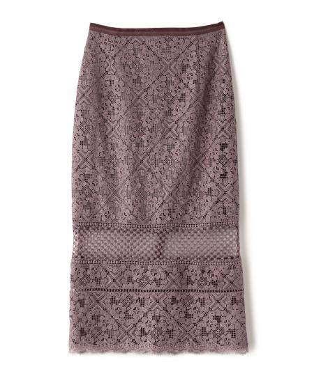 Lace Combi Tight Skirt