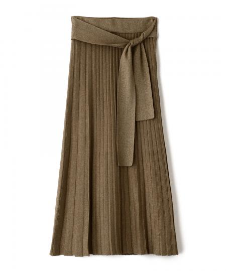 14G Glitter Knit Pleats Skirt
