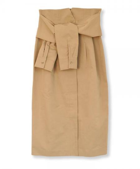 Sleeve Belt Skirt