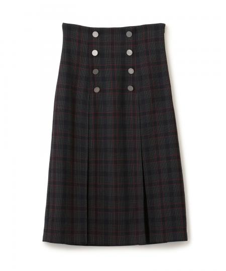 Gun Club Box Pleats Skirt