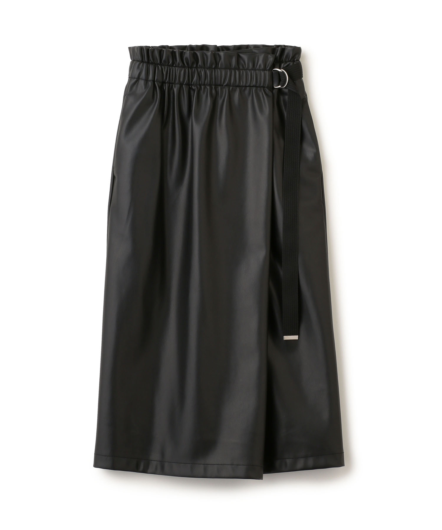 Fake Leather Wrap Skirt