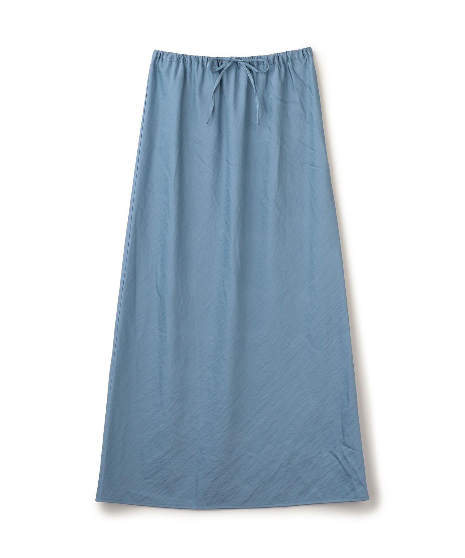 Sheer Satin Long Skirt