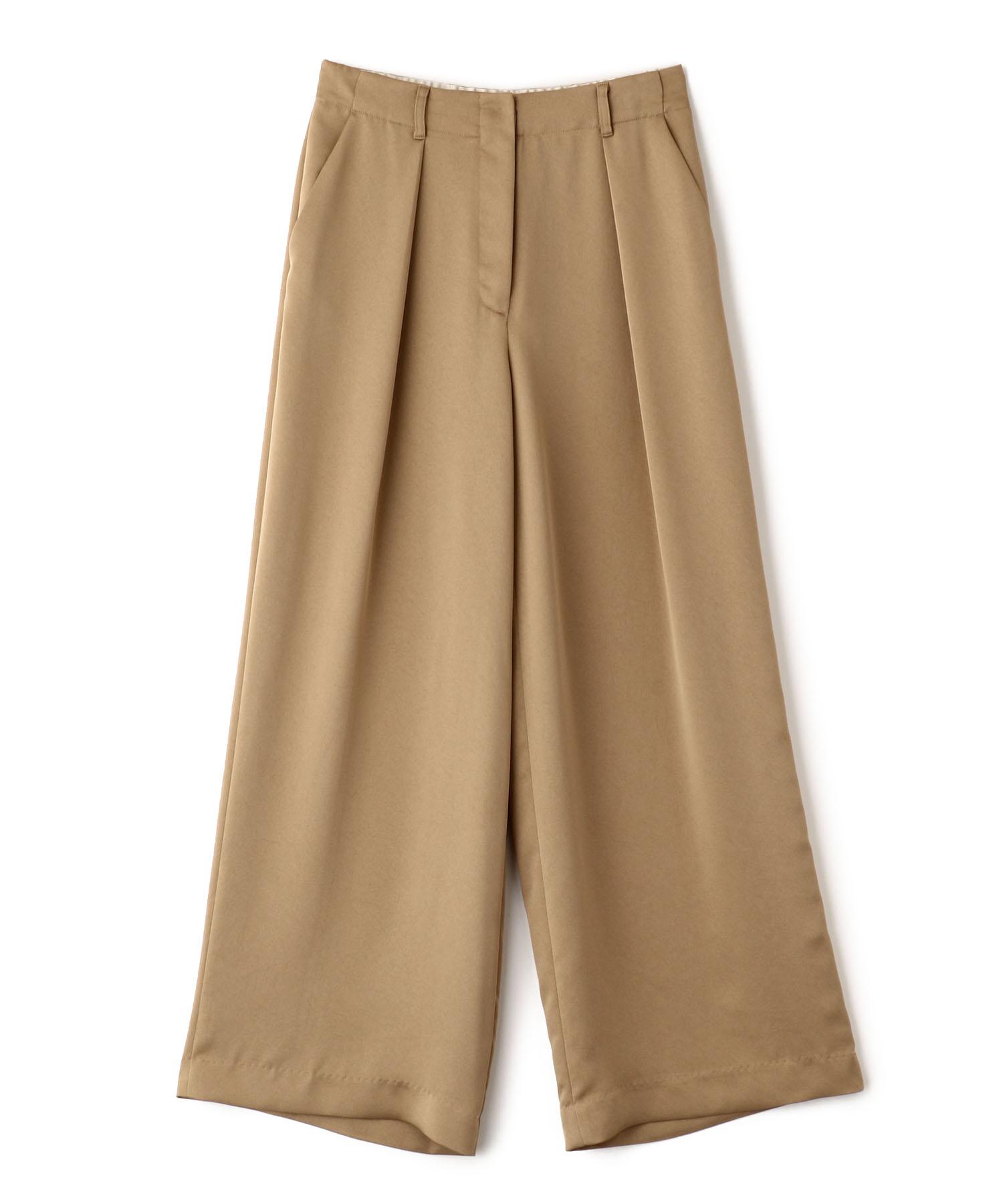 Heavy Satin Tuck Pants
