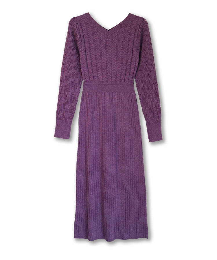 Cable Mix Knit One-piece