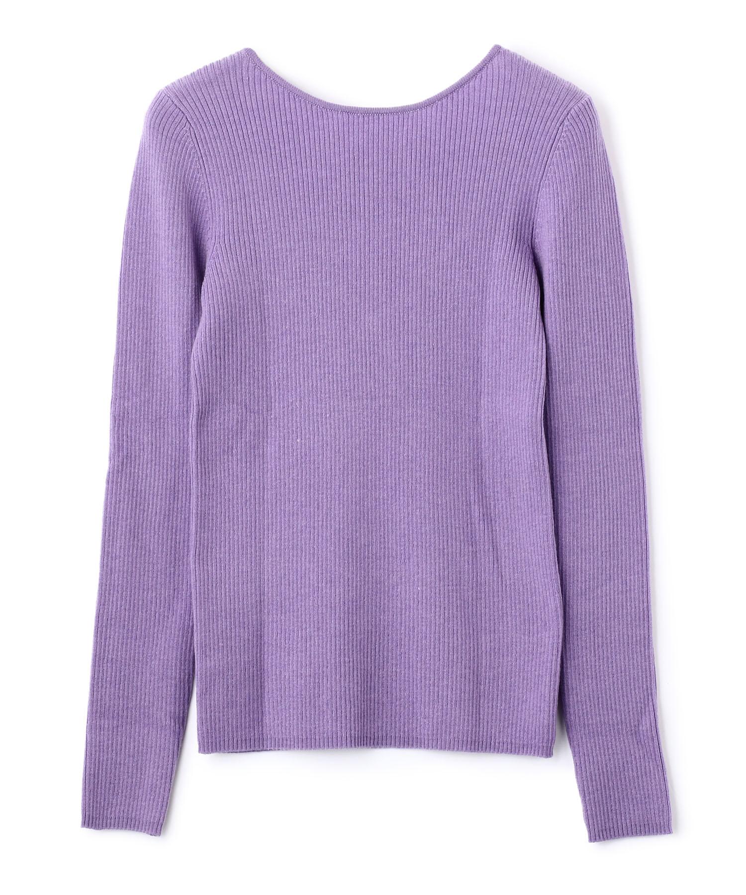 Back Lace Lib Knit Pullover