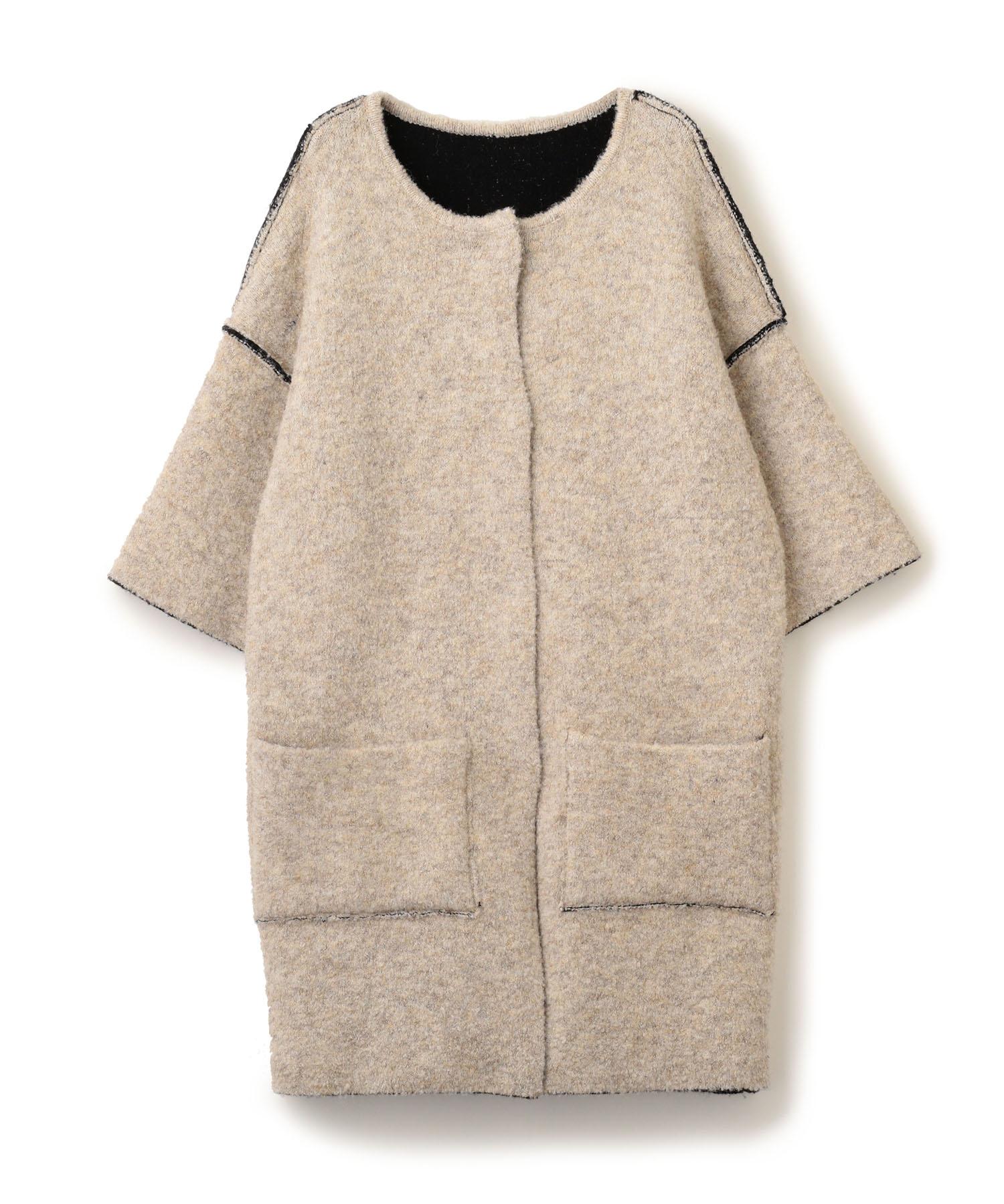 Reversible Knit Coat