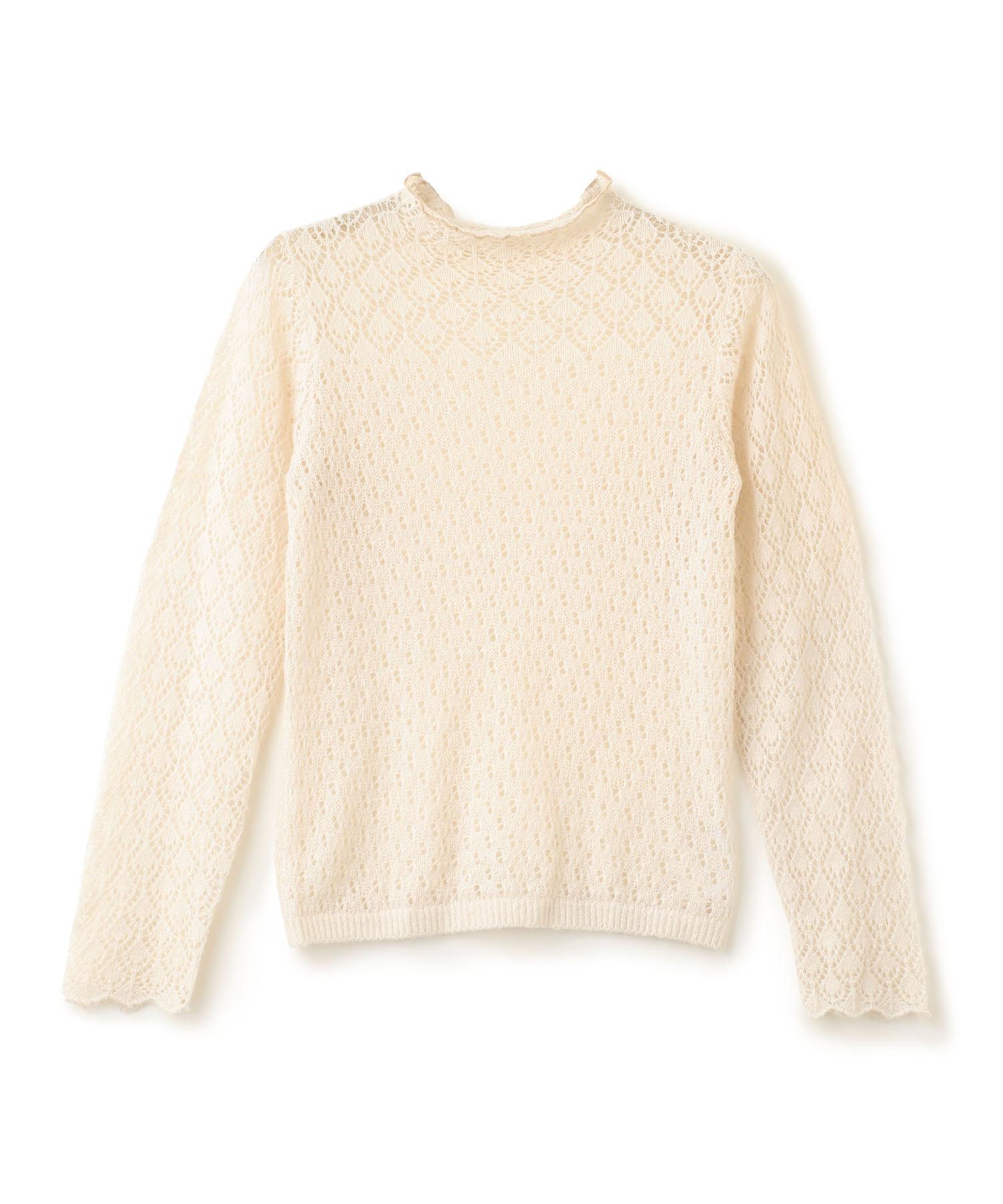 Eyelet Mix Knit Pullover