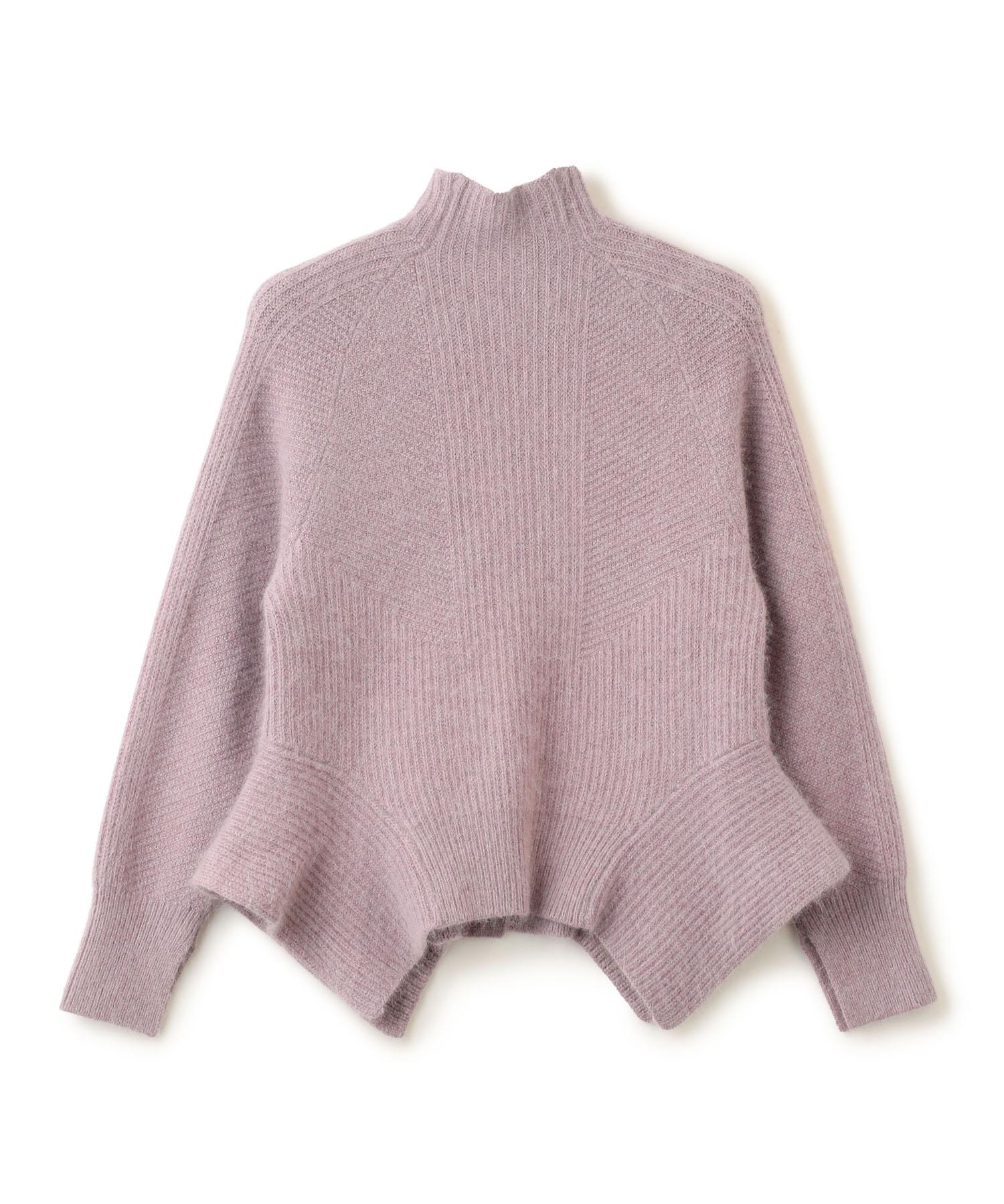 7G Bottleneck Knit Pullover