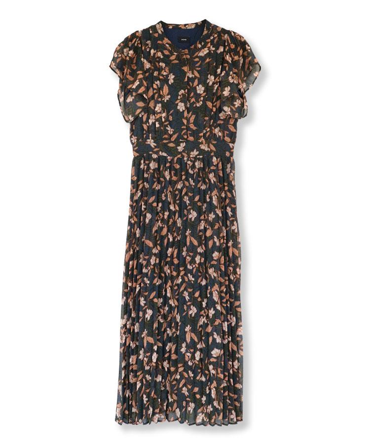 Botanical Pleats Dress