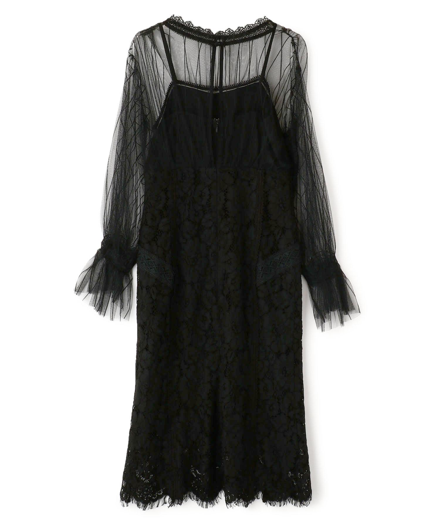 Stripe Tulle Lace Dress
