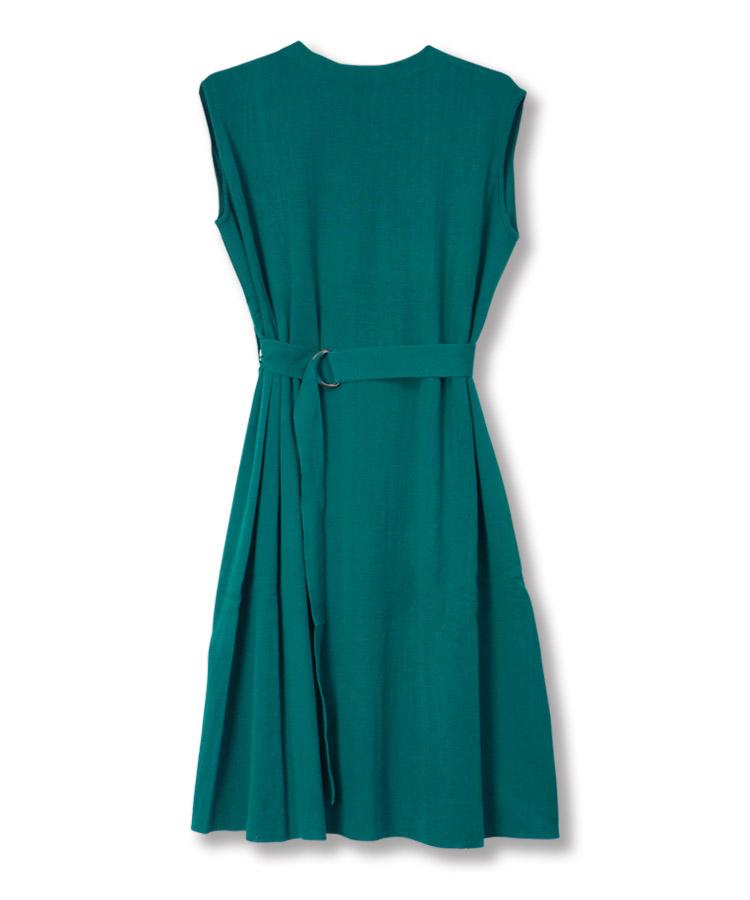 Back Pleats Knit Dress