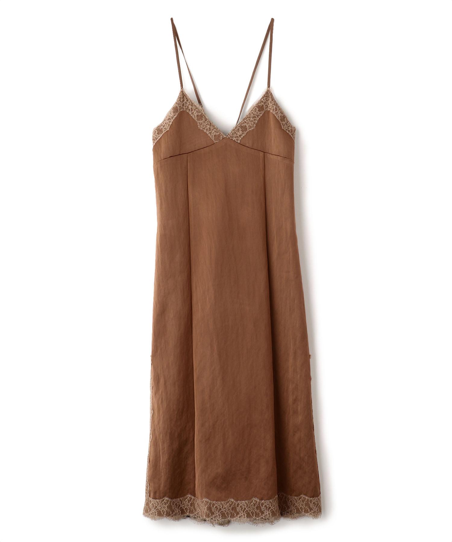 Satin Lace Camisole Dress