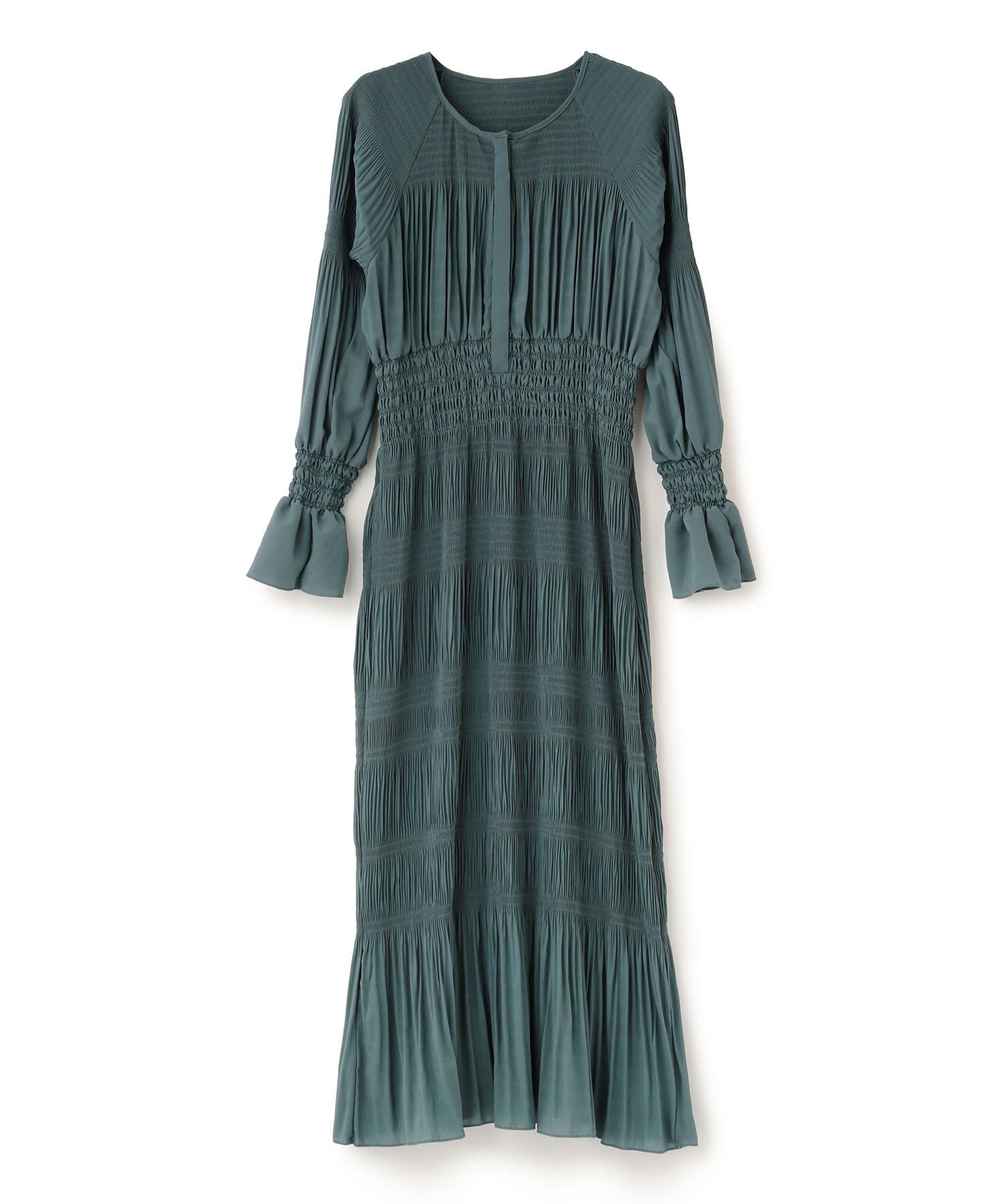 Shirring Pleats Dress