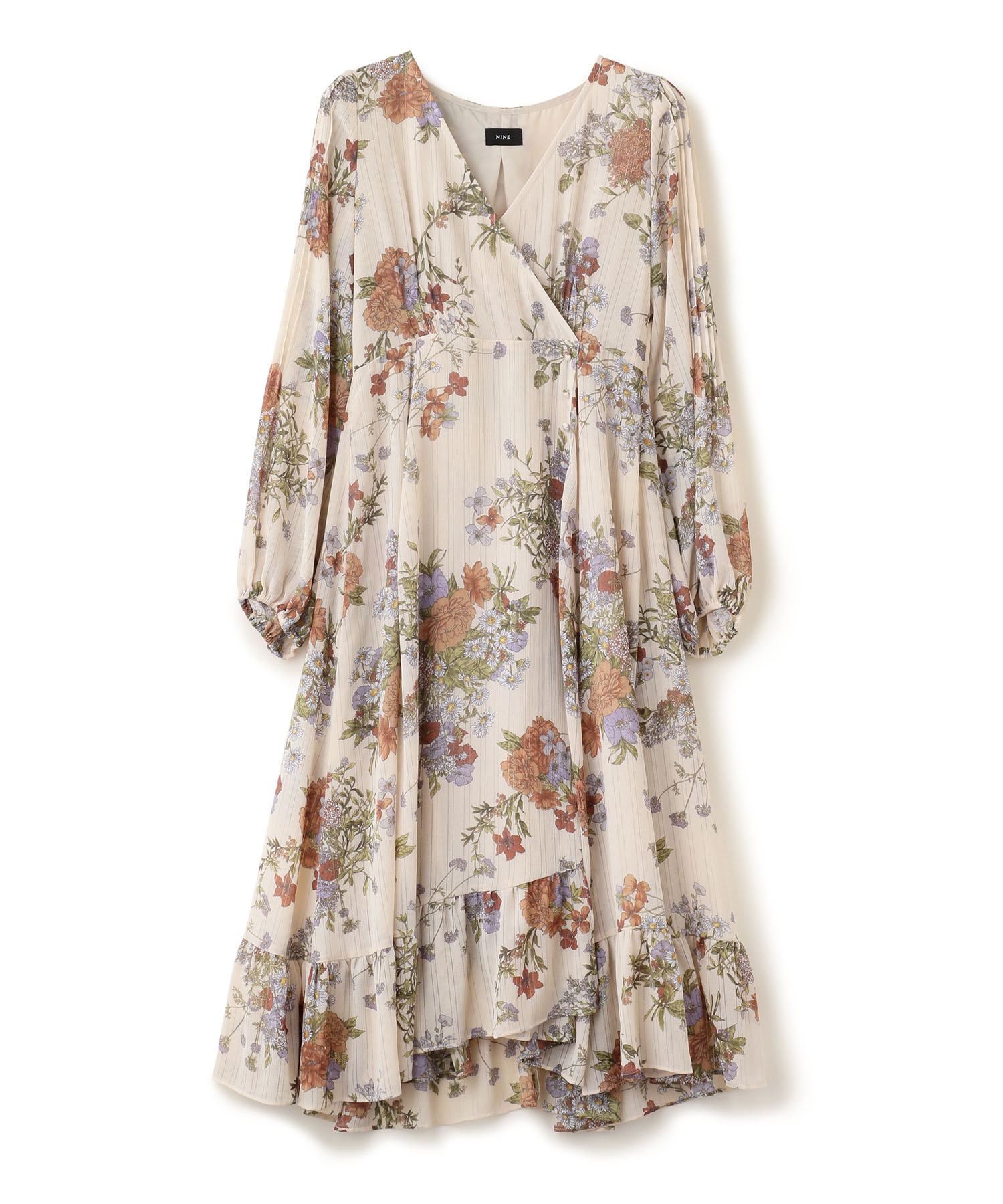 Stripe Flower Print Dress