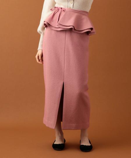 【先行予約・送料無料】2wayペプラムタイトスカート