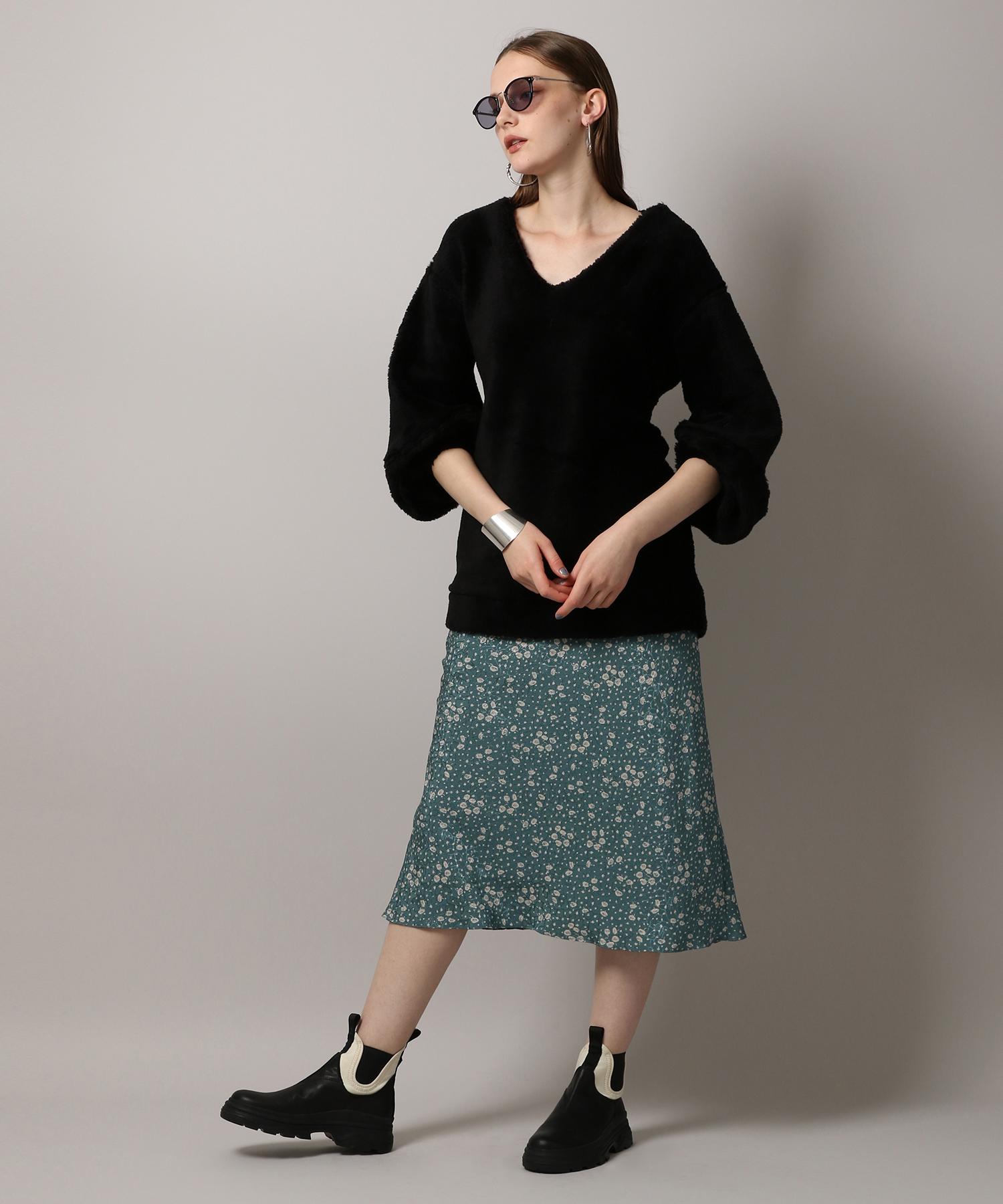 【先行予約10%OFF・送料無料】Crepe Flower Print Skirt