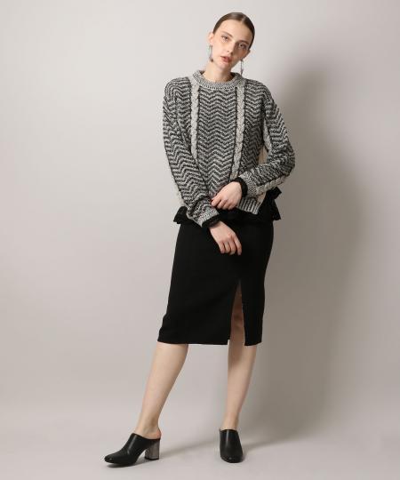 Herringbone Mix Knit Pullover