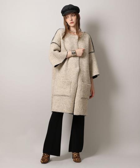 【先行予約10%OFF・送料無料】Reversible Knit Coat