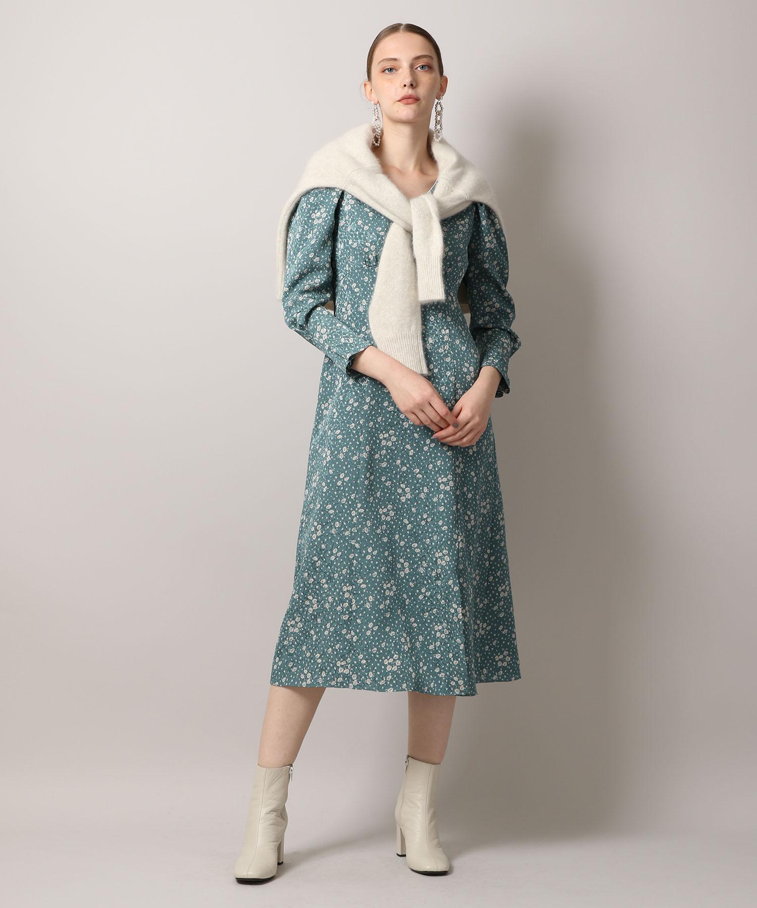【先行予約10%OFF・送料無料】Crepe Flower Print Dress