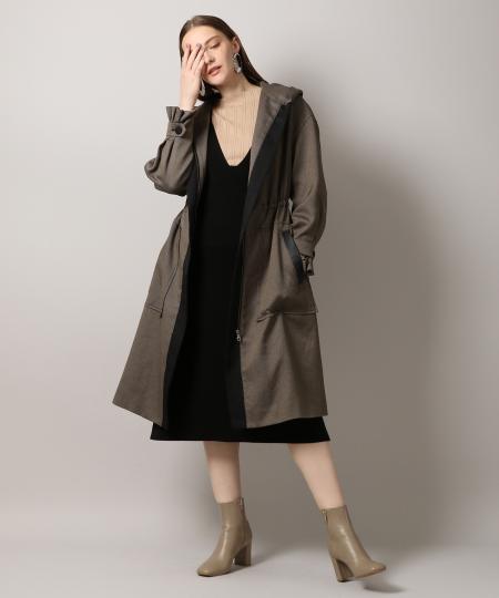 Bicolor Hood Coat