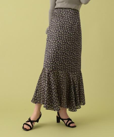 ヴィンテージフラワーマーメイドスカート