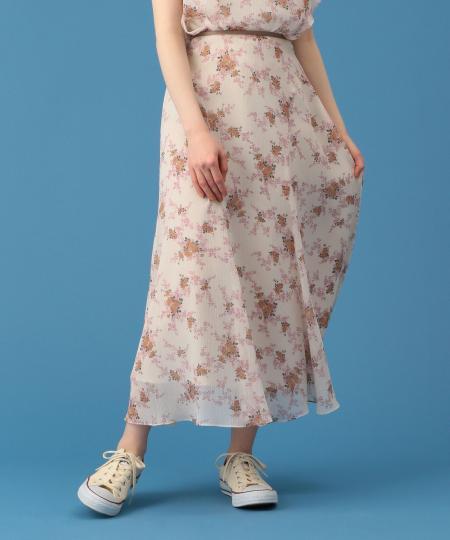 ヴィンテージローズマーメイドスカート
