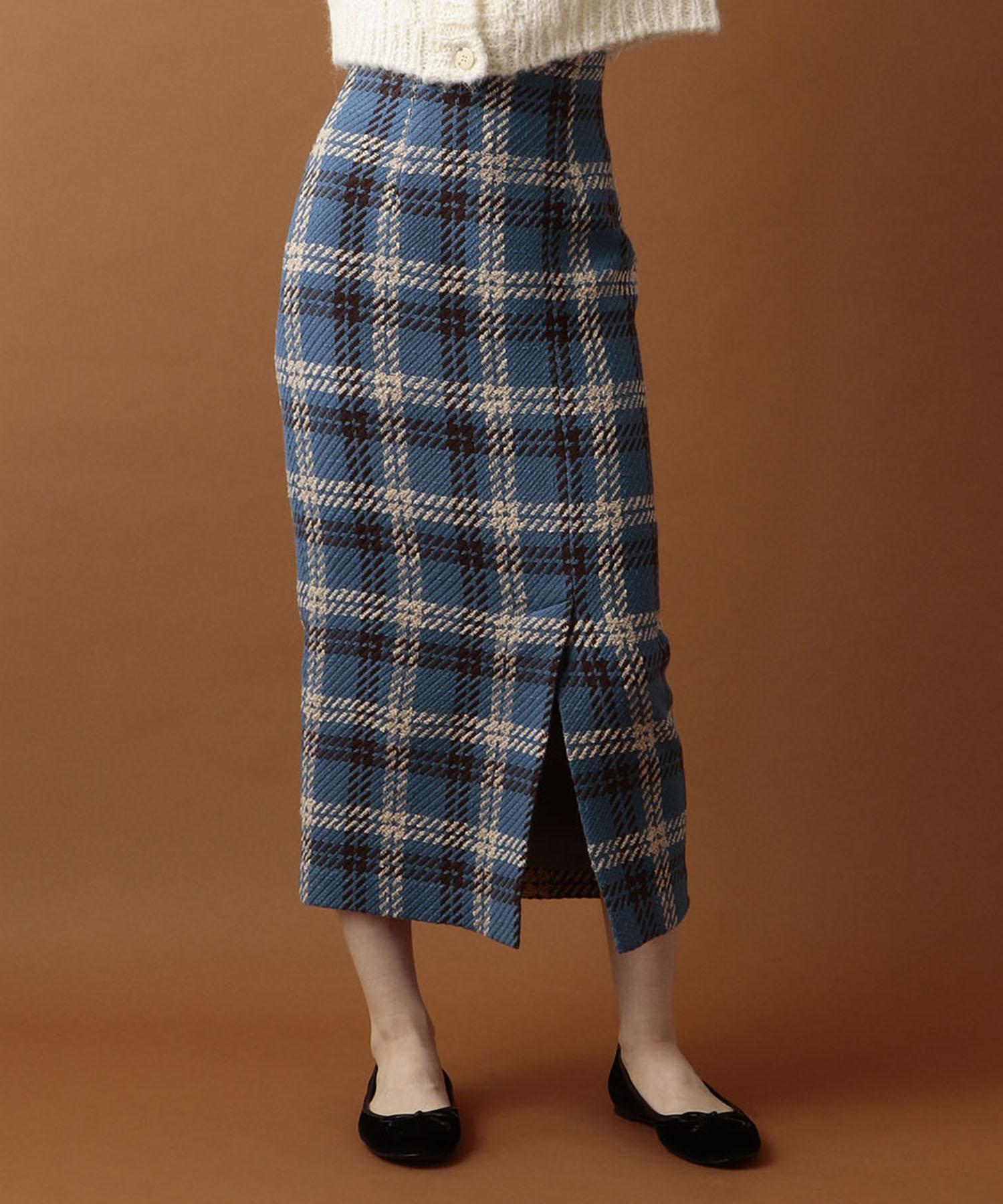 【CanCam 2019年9月号掲載】ミディチェックタイトスカート