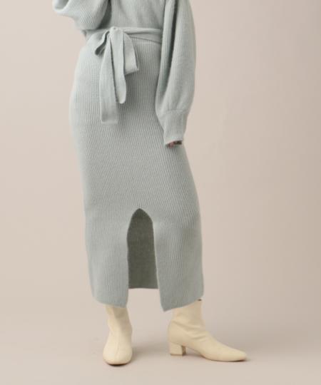 ウールアンゴラタイトスカート