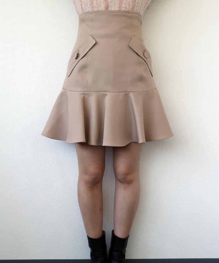 ヘムフレアミニスカート