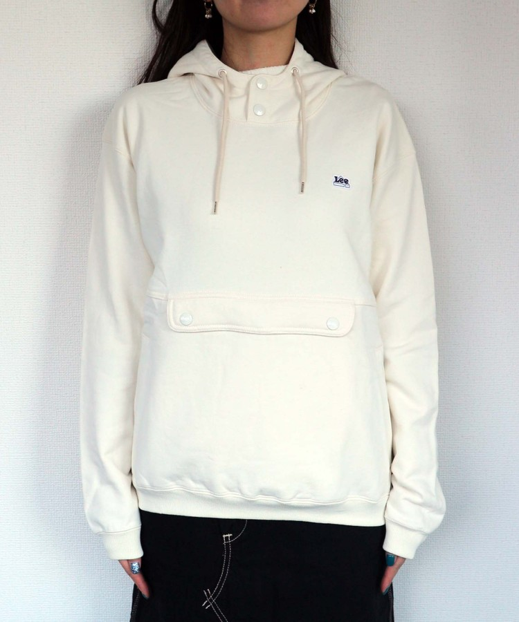 LEE loose button-up hoodie
