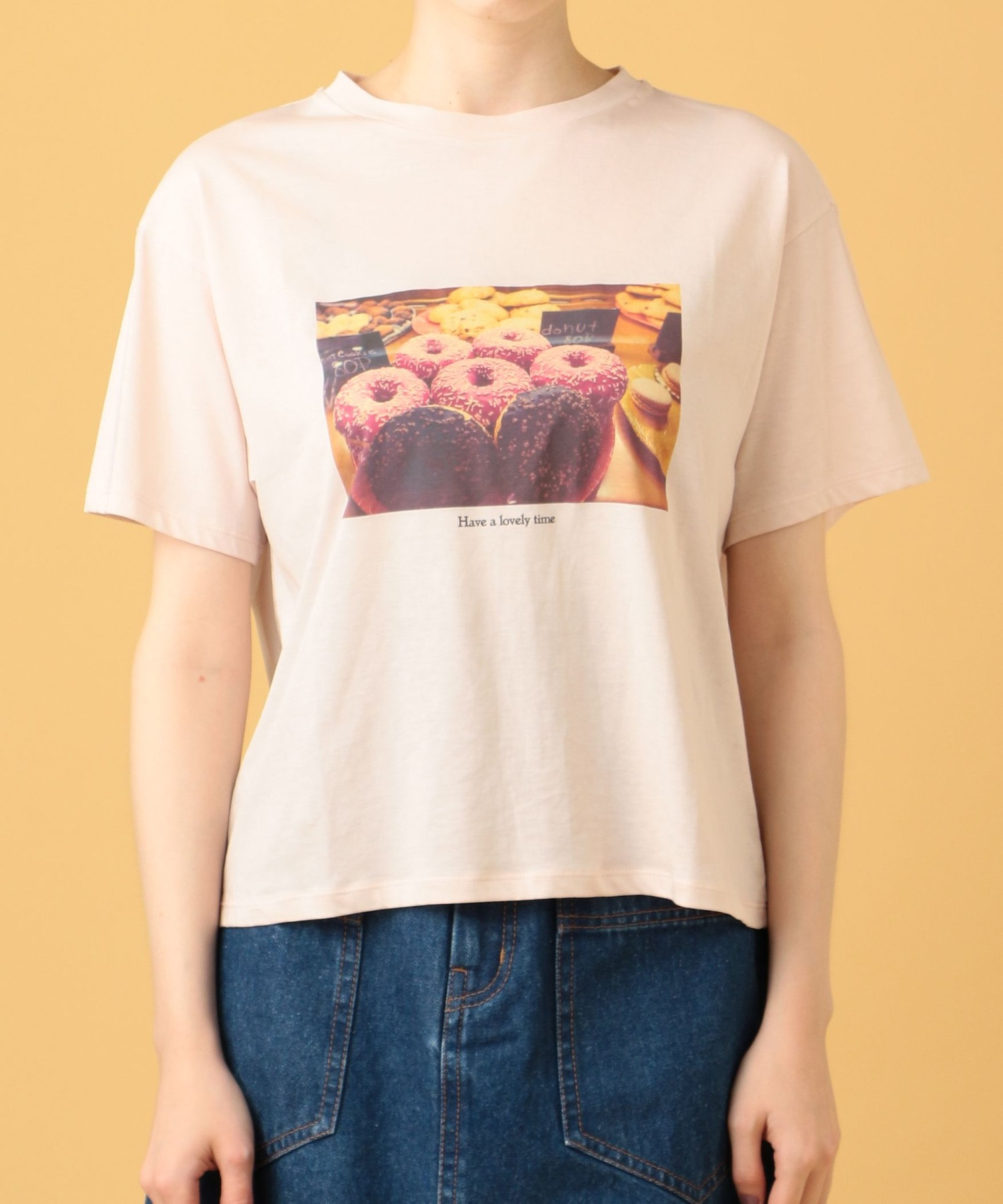 Donut Tシャツ【CanCam 2020年5月号掲載】