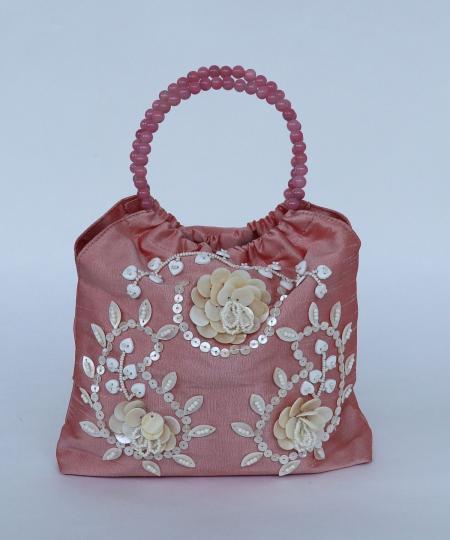インド刺繍リングバッグ
