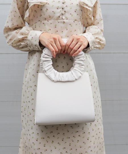 ハンドルギャザーハンドバッグ