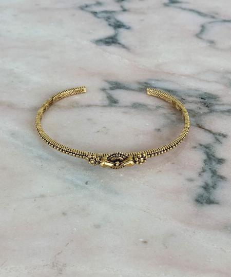 Une Ligne gold bracelet