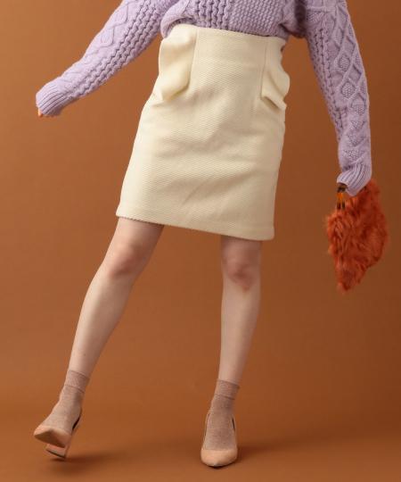 ふんわりカルゼミニフリルスカート