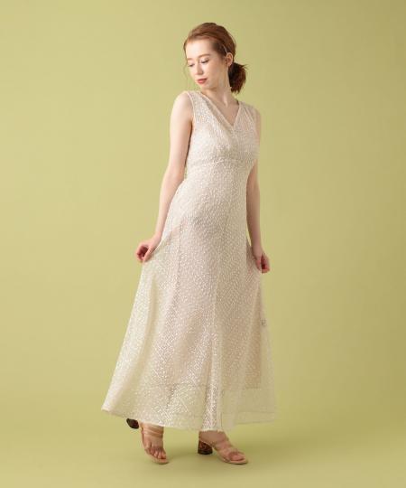ネップフリンジドレス