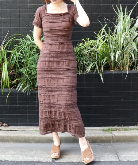 ストレッチレースドレス