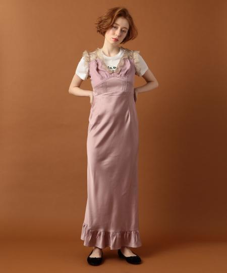 レースmixスリップドレス