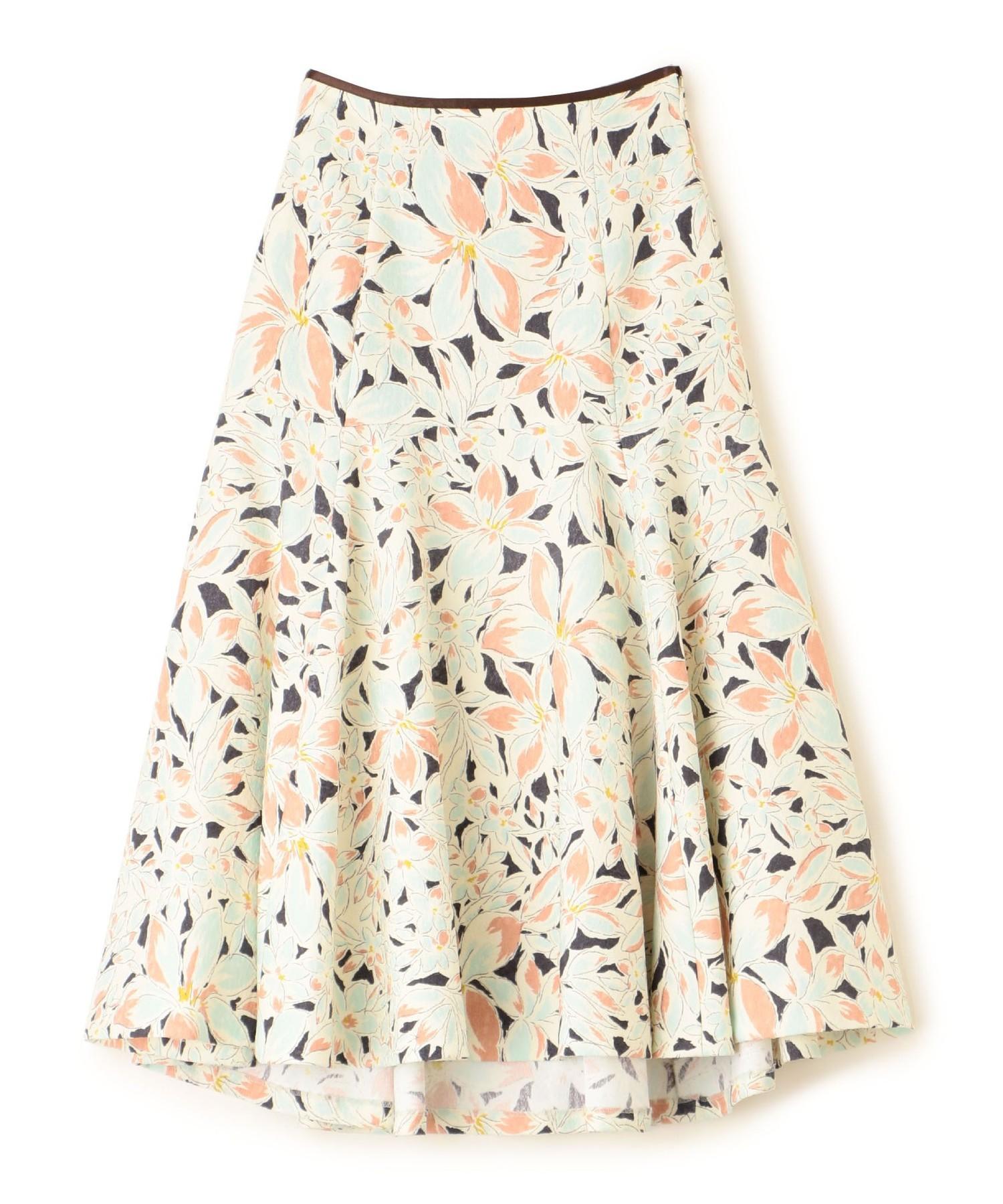 フラワープリントジャカードスカート