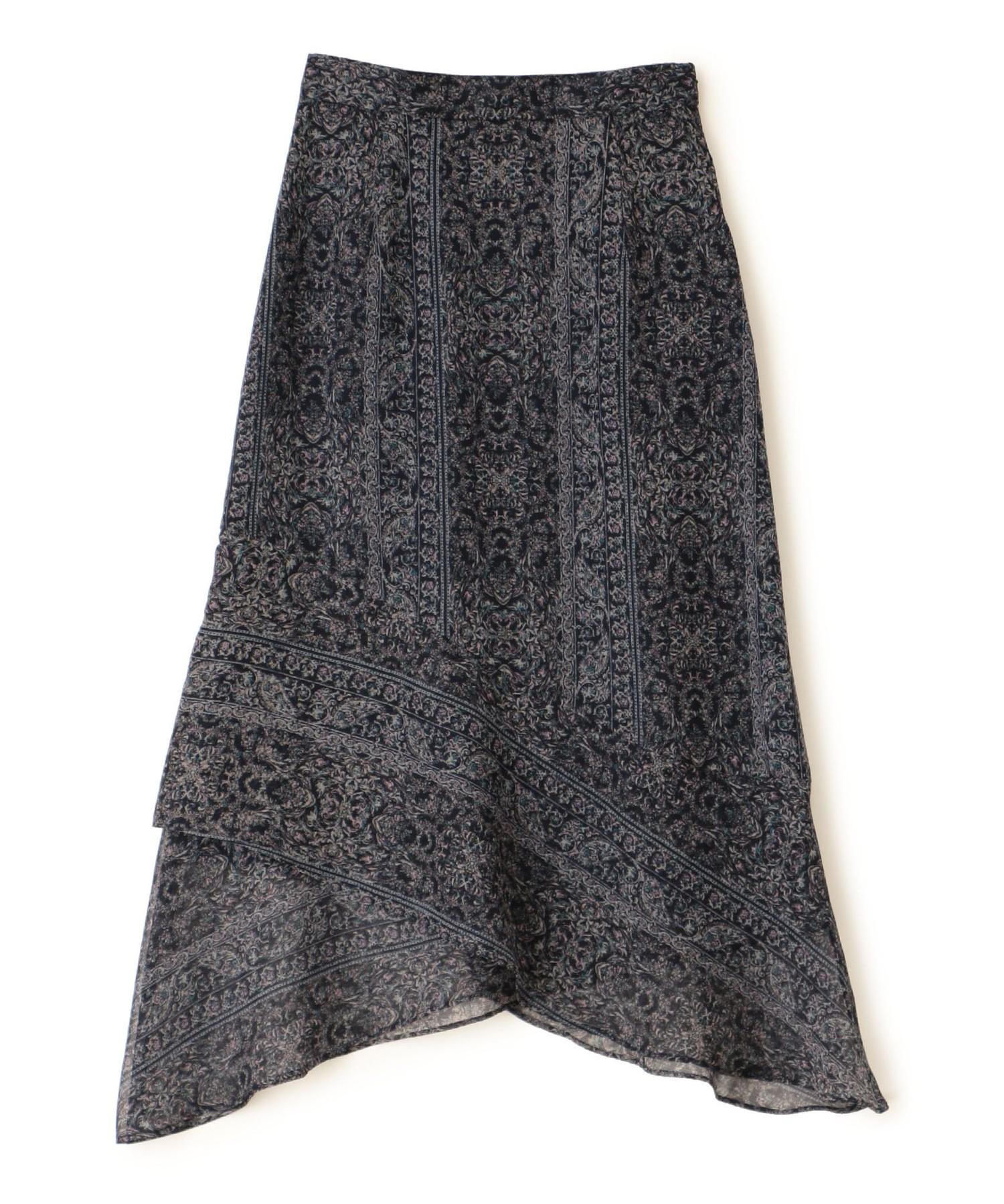 ペイズリーストライププリントスカート