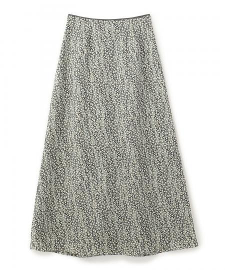 ヘリンボーンドットプリントスカート