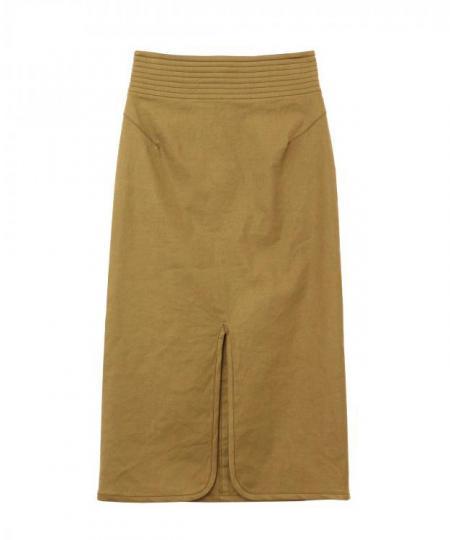 リネンストレッチタイトスカート