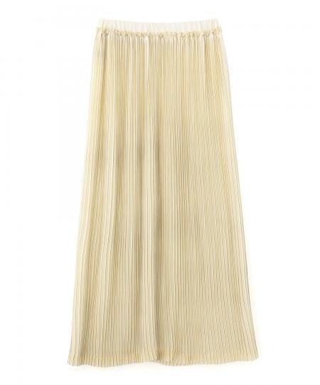 プリーツラインプリントスカート