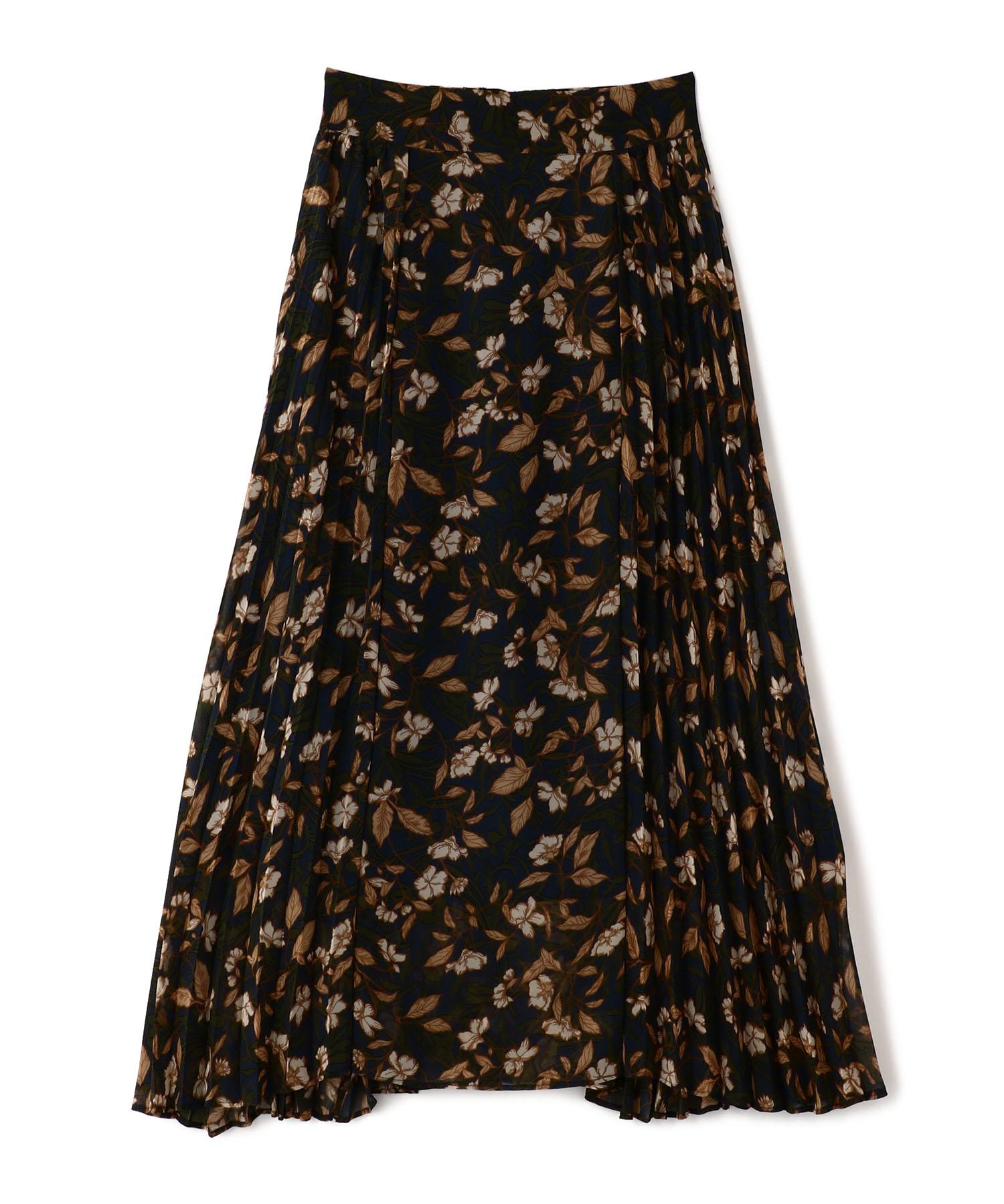 ボタニカルプリーツスカート