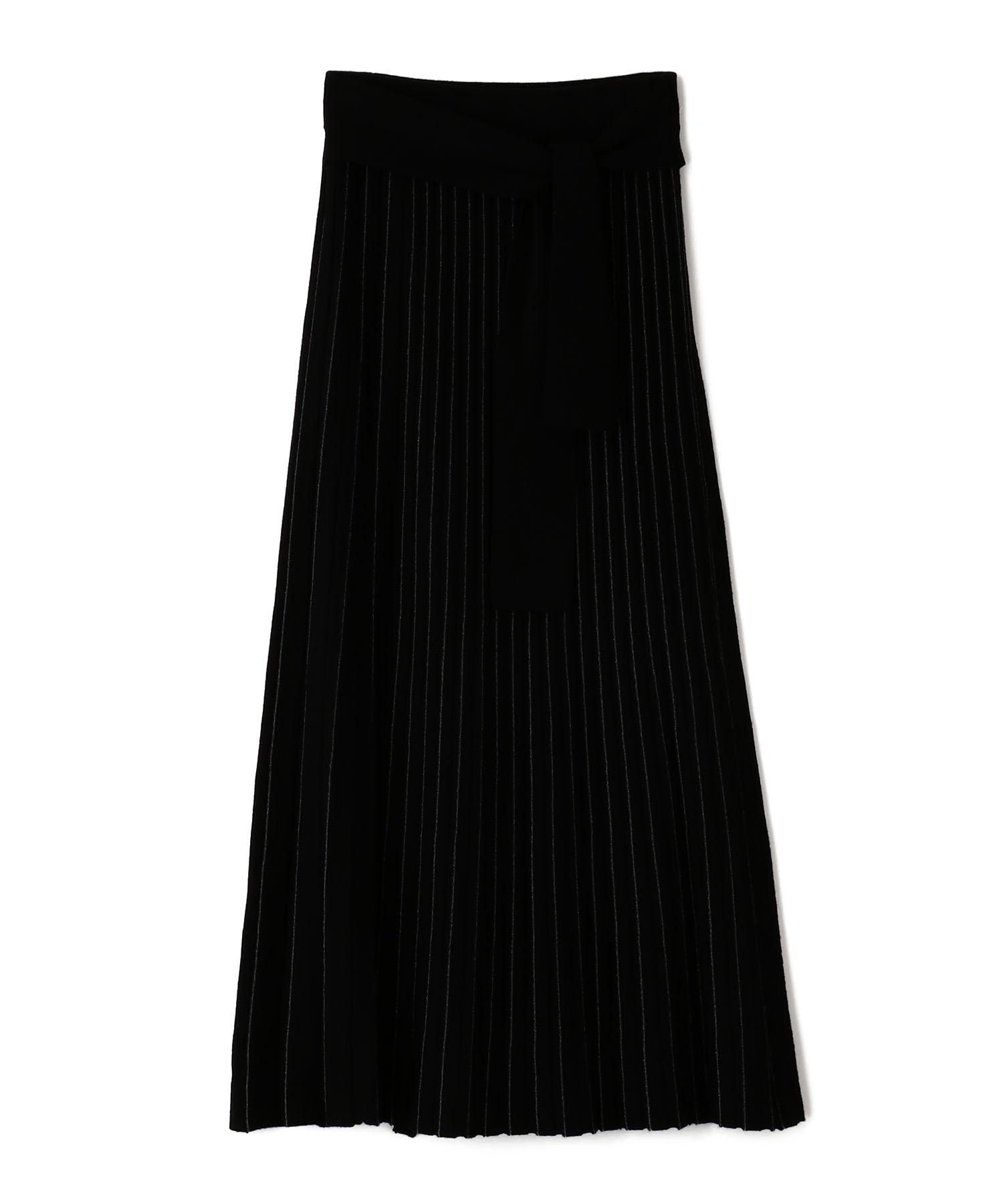 14Gラメニットプリーツスカート
